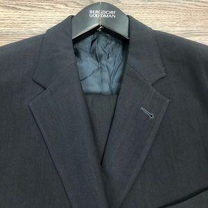 Hugo Boss Solid Black Suit 42S Short